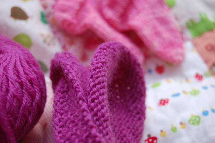 Pink knitting 1