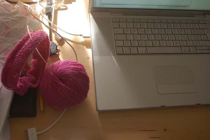 Pink knitting 4